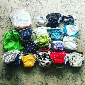 HUGE haul of cloth diapers -74 pieces